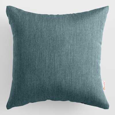 Sunbrella Teal Lagoon Cast Outdoor Patio Throw Pillow: Green - Acrylic  by World Market - World Market/Cost Plus