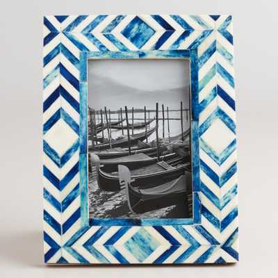 Blue and Natural Tribal Bone London Frame by World Market - World Market/Cost Plus