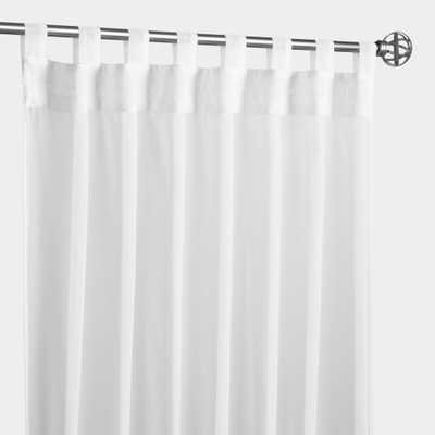 """White Escape Tab Top Outdoor Patio Curtain - Polyester - 96"""" L by World Market 50""""x96"""" - World Market/Cost Plus"""
