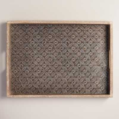 Embossed Wood and Metal Tray: Natural by World Market - World Market/Cost Plus