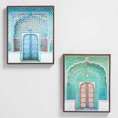 Doors of India by Hakat Wall Art Set of 2: Blue/Green by World Market - World Market/Cost Plus