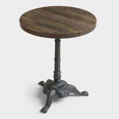 Metal and Wood Bistro Accent Table: Black/Brown by World Market - World Market/Cost Plus