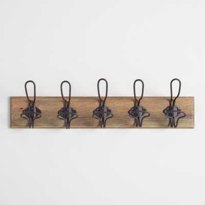 Industrial Wall Rack: Natural - Wood by World Market - World Market/Cost Plus