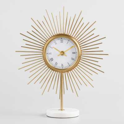 Mid Century Marble Clock: Gold by World Market - World Market/Cost Plus