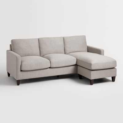 Dove Gray Textured Woven Abbott Sofa - Fabric by World Market - World Market/Cost Plus