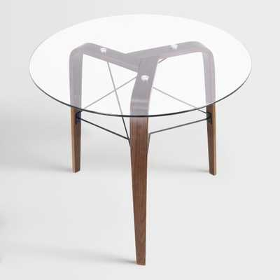 Round Wood and Glass Kirk Dining Table - Small by World Market - World Market/Cost Plus