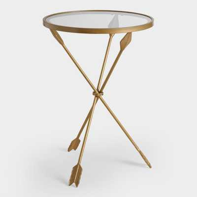 Gold Metal and Glass Arley Accent Table by World Market - World Market/Cost Plus