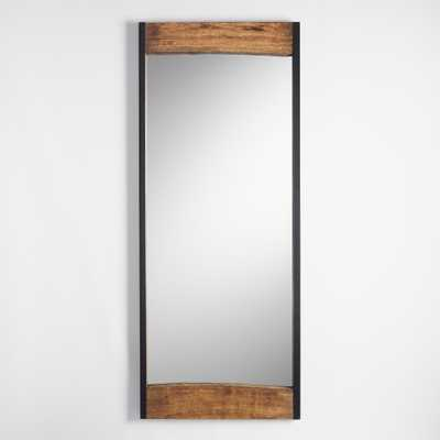 Large Walnut Brown Wood Leaner Mirror with Live Edge by World Market - World Market/Cost Plus