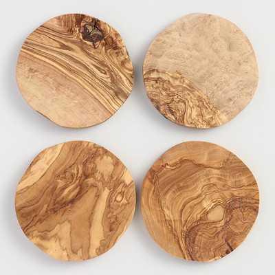 Olivewood Coasters Set of 4 by World Market - World Market/Cost Plus