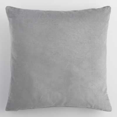"Gray Velvet Throw Pillow - 24"" by World Market 24"" - World Market/Cost Plus"