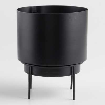 Matte Black Planter with Stand - Metal by World Market - World Market/Cost Plus