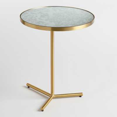 Antique Mirror Beau Accent Table: Gold - Metal by World Market - World Market/Cost Plus