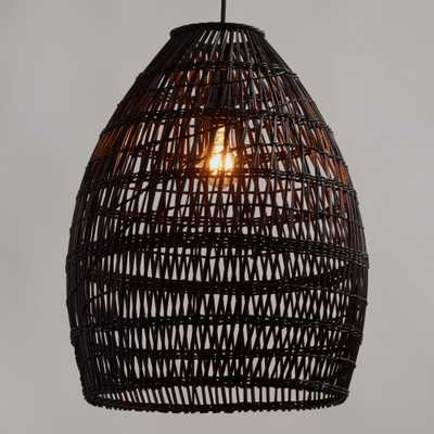 Black Woven Bamboo Pendant Shade - Natural Fiber by World Market - World Market/Cost Plus