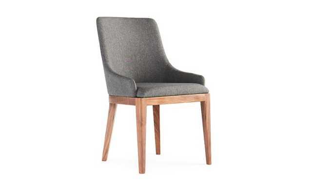 Gaston Mid Century Modern Dining Chair - Bark Grey - Joybird