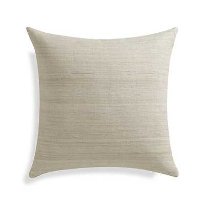 "Michaela Sesame 20"" Pillow with Down-Alternative Insert - Crate and Barrel"