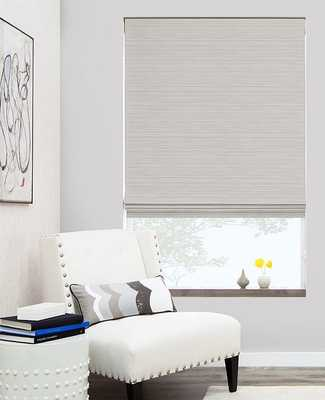 """Flat Roman Shades - Woven Wood  - 59"""" W x 35"""" H - The Shade Store"""