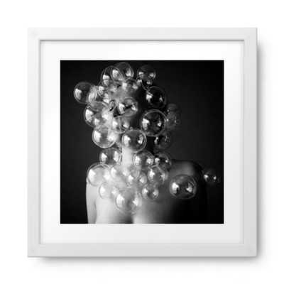 Bubble face white frame 42x42 - Photos.com by Getty Images