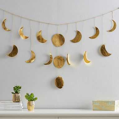 Moon Phases Garland, Moon Phases Garland, Gold - Pottery Barn Teen