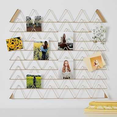 Gold Triangular Photo Holder, Gold Large Triangle - Pottery Barn Teen