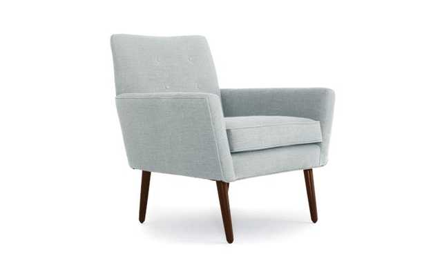 Blue Burns Mid Century Modern Chair - Origin Mist - Mocha - Joybird