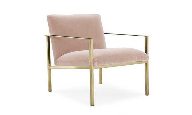 Pink Orla Mid Century Modern Accent Chair - Key Largo Blush - Joybird