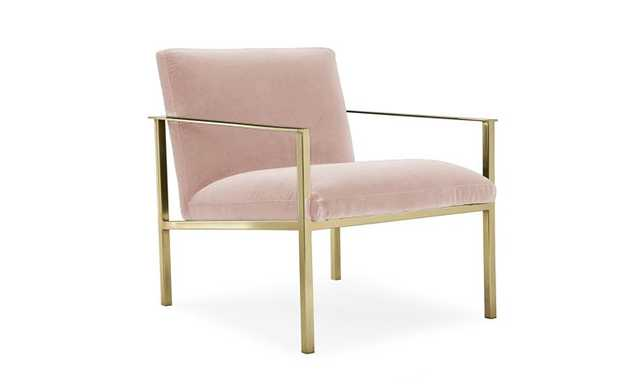 Pink Orla Mid Century Modern Accent Chair - Mixology Blush - Joybird