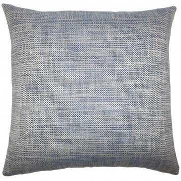 """Daker Weave Pillow Indigo - 18"""" x 18"""" with insert - Linen & Seam"""
