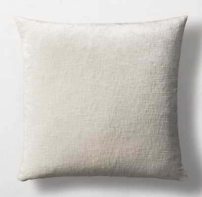 ITALIAN LUSTROUS VELVET PILLOW COVER - SQUARE - RH