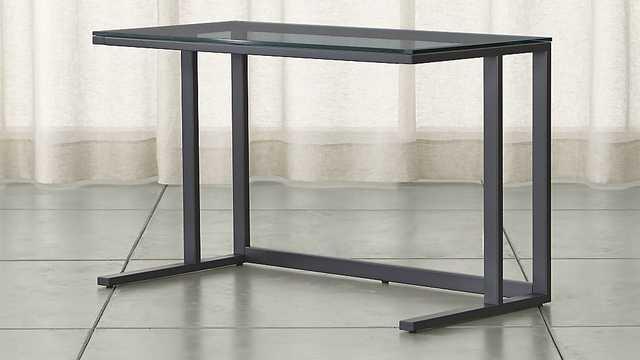 Pilsen Graphite Desk - Crate and Barrel