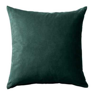 SANELA Cushion cover, dark green - Ikea