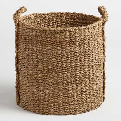 Large Natural Seagrass Jade Tote Basket by World Market - World Market/Cost Plus