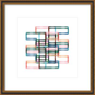 "Kinetic Lines 18, 16"" x 16"" - Artfully Walls"