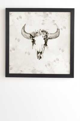"ROMANTIC BOHO BUFFALO III - 20""x20"" - Framed Art - Wander Print Co."