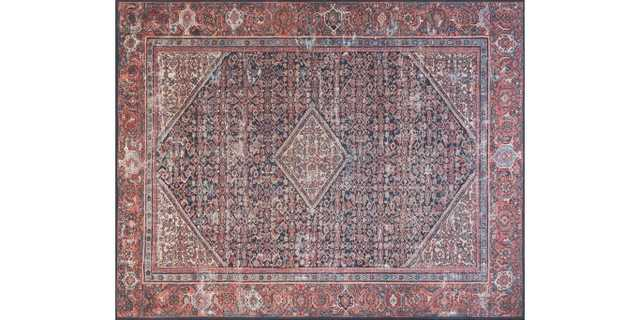 "LUCCA Rug NAVY / RED 7'-6"" x 9'-6"" - Loma Threads"