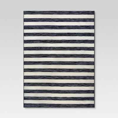 Outdoor Rug - Worn Stripe Black & White - Threshold™ - Target