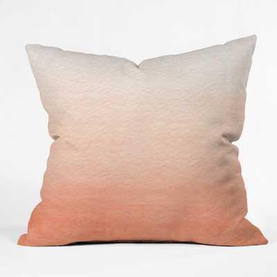 PEACH OMBRE Outdoor Throw Pillow - Wander Print Co.