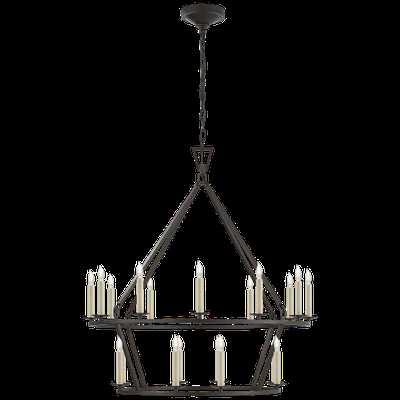 Darlana Medium Two-Tier Chandelier - Circa Lighting
