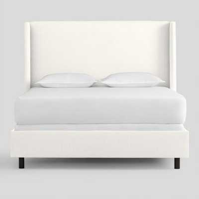 Textured Woven Bryn Upholstered Bed: White - Fabric - King Bed by World Market White/King - World Market/Cost Plus