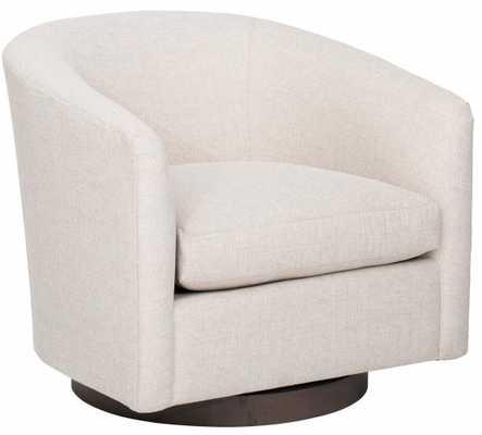 Coltrane Swivel Chair, Alabaster - High Fashion Home