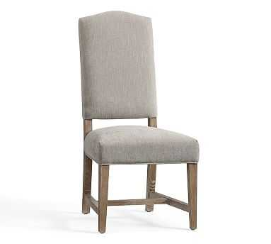 Ashton Non Tufted Dining Chair - Performance Heathered Tweed, Pebble - Pottery Barn