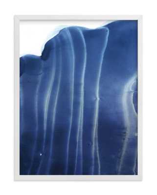 "Vertical Wave - 18"" x 24"" - White Frame - No Mat - Minted"