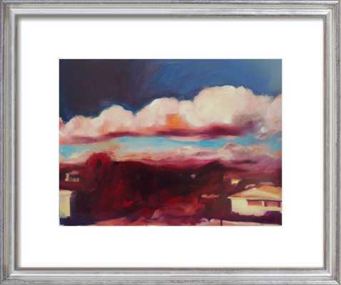 cloud shadow  BY MARY SINNER (silver leaf frame) - Artfully Walls