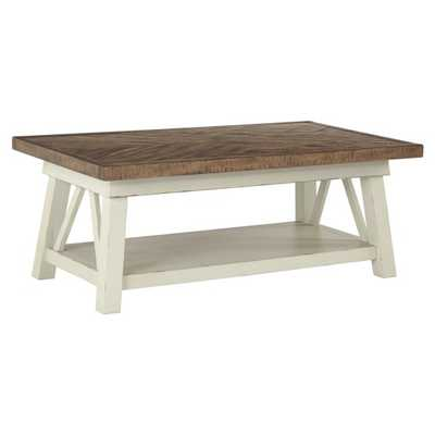 Signature Design by Ashley Stownbranner 48 in. Rectangular Cocktail Table - Hayneedle