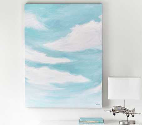 Cloud Stretched Canvas Art - Pottery Barn Kids