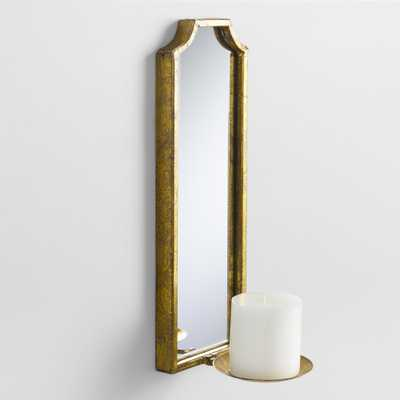 Antique Gold Rectangular Emma Sconce by World Market - World Market/Cost Plus
