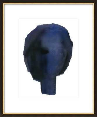 "Blue Head Wall Art, 28""x36"" Print-With Mat - Artfully Walls"