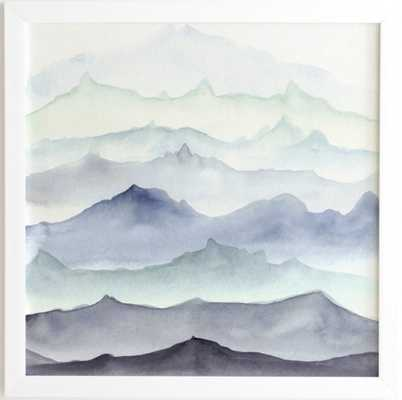 Mountain Mist - 30 X 30 - white frame - Wander Print Co.