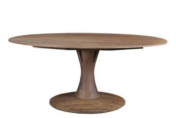 Hobart Oval Dining Table LIGHT BROWN - Apt2B