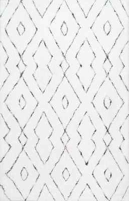 Peraza Hand-Tufted White Area Rug - Wayfair