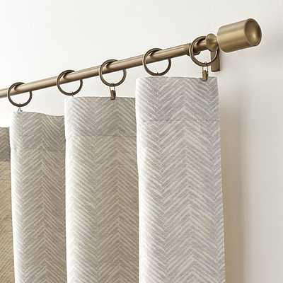 """Dover Cream/Taupe 50""""x96"""" Curtain Panel - Crate and Barrel"""